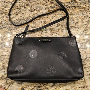 Kate Spade Haven Lane Ramey Black Glitter Dot Bag